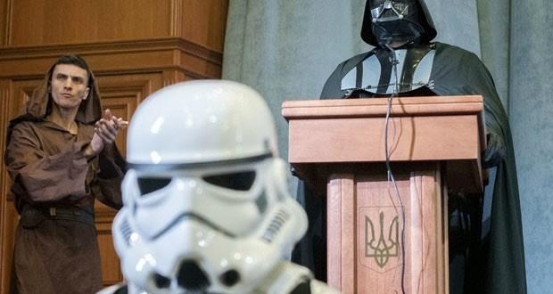 Darth Vader é candidato à presidência da Ucrânia