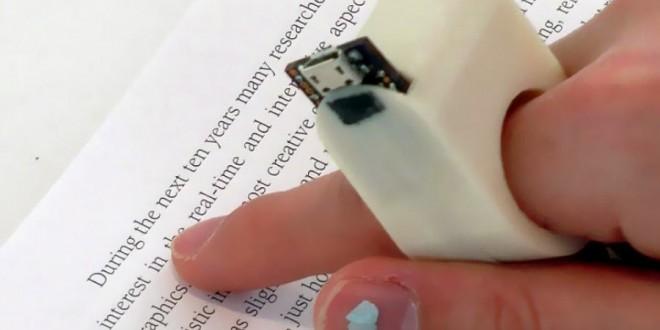 Pesquisadores do MIT desenvolvem anel que lê textos para deficientes visuais