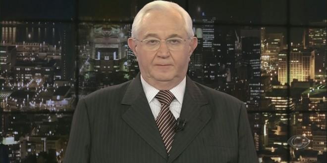 Boris Casoy fingiu que estava falando após problemas técnicos no 'Jornal da Noite'