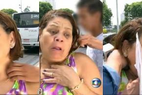 Mulher sofre tentativa de assalto durante entrevista à Globo no Rio