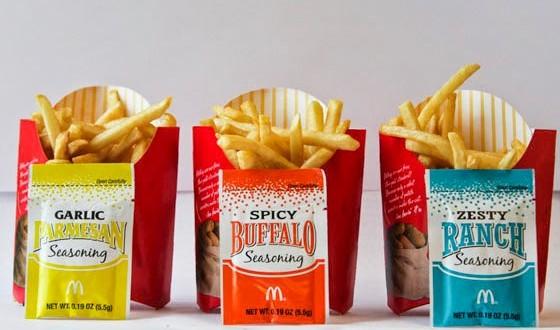 McDonald's dos EUA testa batatas fritas temperadas