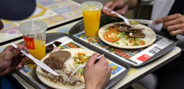 McDonald's vende pratos executivos com arroz e feijão no Brasil