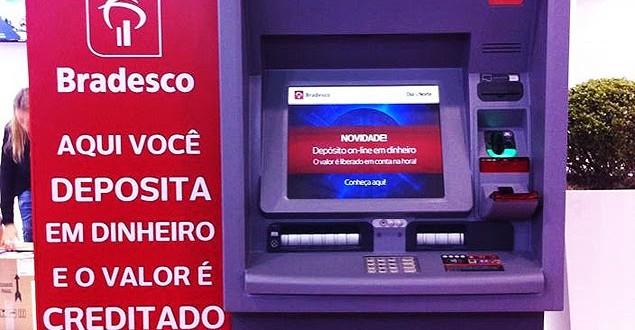 Bradesco lança caixa eletrônico que permite depósitos sem envelope