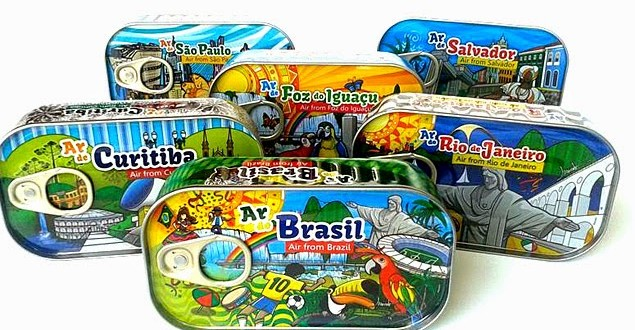 Empreendedor fatura R$ 150 mil vendendo 'ar brasileiro' em latas de sardinha