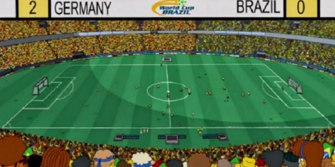 'Os Simpsons' previram a vitória da Alemanha sobre o Brasil