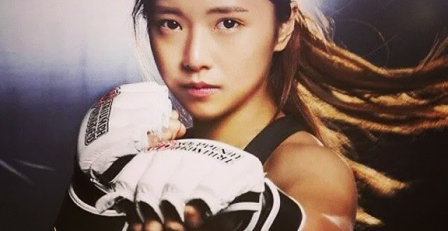 Ring girl coreana estreia com vitória no MMA