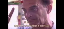 Bêbado que dirigia em zigue-zague dá entrevista ao SBT