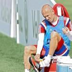 Robben é mordido por crocodilo em pré-temporada do Bayern