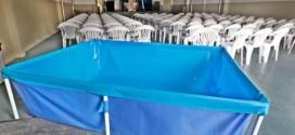 Igreja compra piscina para usar como reservatório de água