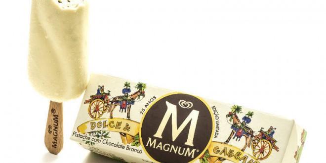 Kibon lança sorvete Magnum em parceria com Dolce & Gabbana