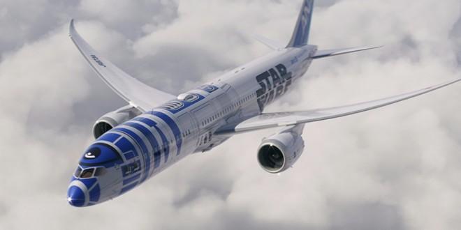 Companhia aérea do Japão lança avião com pintura do robô de Star Wars