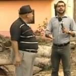 Jornalista do SBT se irrita com entrevistado em reportagem