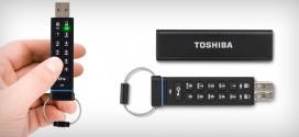 Toshiba lança pendrive com teclado integrado para senha