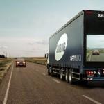 Samsung quer tornar as estradas mais seguras com um caminhão transparente