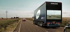 Caminhão transparente da Samsung reforça segurança nas estradas
