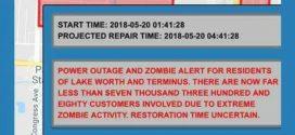 Cidade americana envia alerta de ameaça zumbi a moradores durante apagão